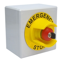 C & D SHROUDED EMERGENCY STOP